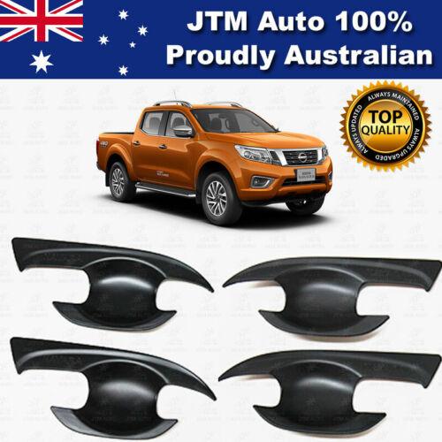 MATT Black Door Bowl Cover Protector to suit Nissan Navara NP300 2015-2021