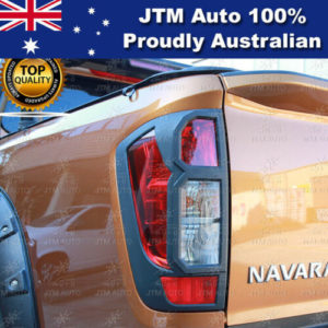MATT Black Tail Light Cover Trim to suit Nissan Navara NP300 D23 2014-2020