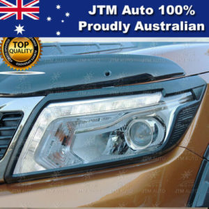 MATT Black Head Light Cover Trim to suit Nissan Navara NP300 D23 2014-2020