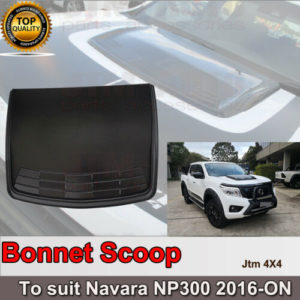 Black Bonnet Scoop Hood Cover to suit Nissan Navara D23 NP300 2014+ DEFECTIVE