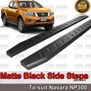 Heavy Duty Steel Black Off road Side Steps suit Nissan Navara NP300 D23 15-2021