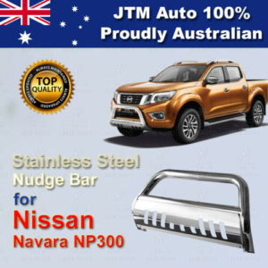 "For Nissan Navara D23 Np300 Nudge Bar 3"" Stainless Steel Grille Guard 2014-2020"