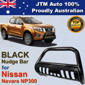 "Nudge Bar 3"" tosuit Nissan Navara D23 Np300 2014-2020 Black Steel Grille Guard"