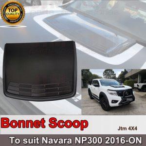 Matt Black Bonnet Scoop Hood Cover to suit Nissan Navara D23 NP300 2014+