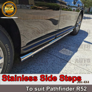 OEM Side Steps Running Boards Stainless Steel for Nissan Pathfinder R52 13-19