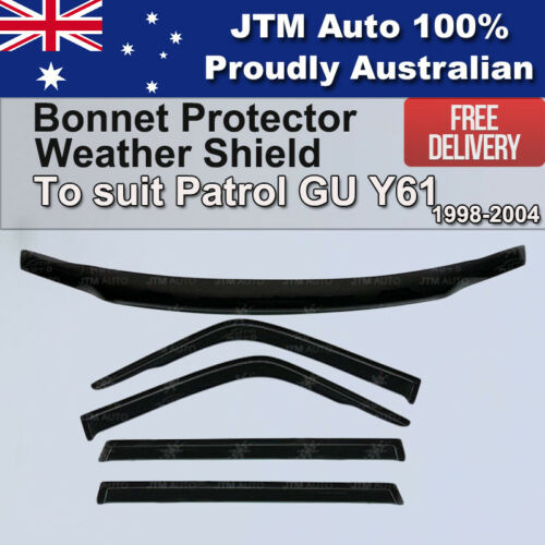 Bonnet Protector + Weathershields to suit Nissan Patrol GU Y61 1998-2004