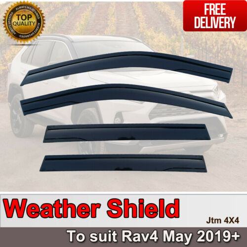 Weather Shield Window Visors weathershield to Suit Toyota Rav4 May 2019+