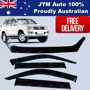 Bonnet Protector + Weather Shield Visor to suit TOYOTA Prado 120 Ser 2003-2009