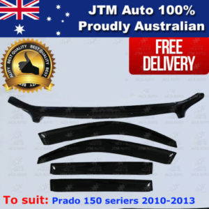 Bonnet Protector + Weather Shield Visor to suit TOYOTA Prado 150 Ser 2009-2013
