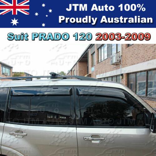 Weathershields Weather Shields Window Visor to suit TOYOTA PRADO 120 2003-2009