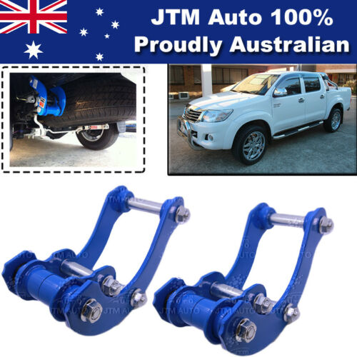 Rear Leaf Alloy Spring G Shackle Shackles to suit Toyota Hilux 2006-2014