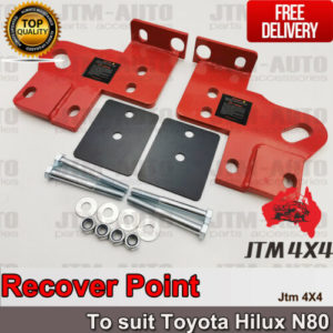 Recovery Tow Point Kit 5 Tonne & Hitch to suit Toyota Hilux N80 2015-2020