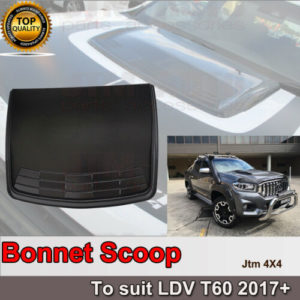 Matt Black Bonnet Scoop Hood Cover to suit LDV T60 2017-2021