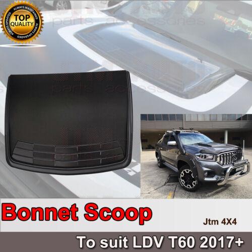 Matt Black Bonnet Scoop Hood Cover to suit LDV T60 2017-2021