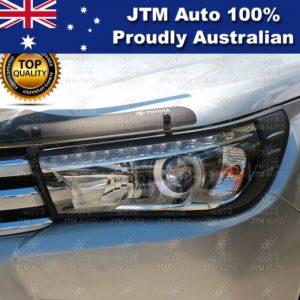 MATT Black Head Light Cover Trim to suit Toyota Hilux 2015-2019 (SR5 ONLY)