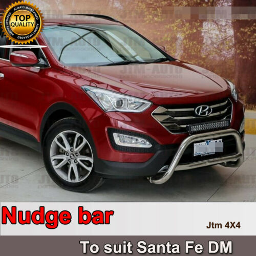 Nudge Bar Stainless Steel Grille Guard to suit Hyundai Santa Fe DM 2013-2018