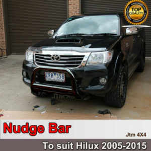 "Nudge Bar 3"" Black Steel Grille Guard Suitable For Toyota Hilux 2005-2015"