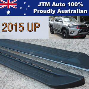 Side Steps Running Board Aluminium Suitable For Toyota Hilux Dual Cab  2015-2018