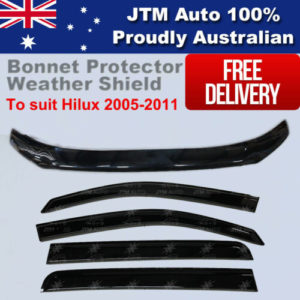 Bonnet Protector & Weathershields Window Visors to suit Toyota Hilux 2005-2011