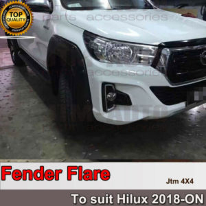 Jungle 6 Pieces Fender Flares Wheel Arch Pocket Style to suit Toyota Hilux 2018+