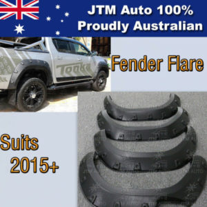 Wrinkle Fender Flares Wheel Arch Pocket Style to suit Toyota Hilux 2015-2018