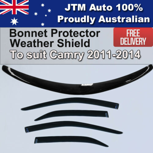 Bonnet Protector + Weathershields to suit Toyota Camry Oct 2011-Feb 2015
