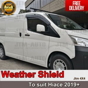 Injection Weather Shield Window Visors weathershield to Suit Toyota Hiace 2019+