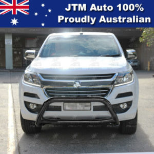 "Sensor Compliant 3"" Black Nudge Bar Grille Guard for Holden Colorado 2016-2020"