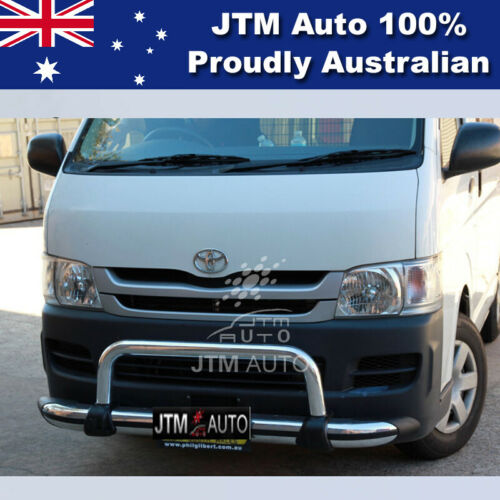 """Nudge Bar 3"""" Aluminium Grille Guard to suit Toyota Hiace 2005-2019 (LWB ONLY)"""
