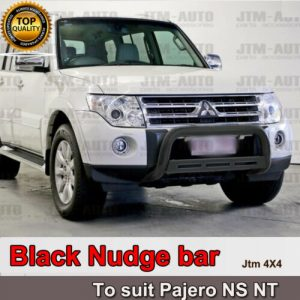 "Nudge Bar 3"" Black Steel to suit Mitsubishi Pajero NS NT 2006-2011"