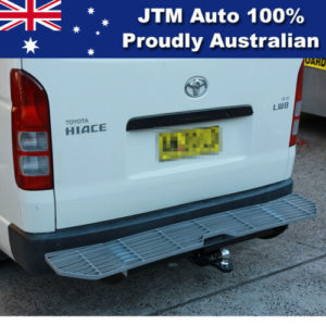 Alloy Rear Step Bumper Bar TOW BAR to suit Toyota Hiace 2005-2019 SLWB Commuter