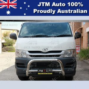 """Nudge Bar 3"""" Stainless Steel Grille Guard to suit Toyota Hiace LWB 2005-2018"""