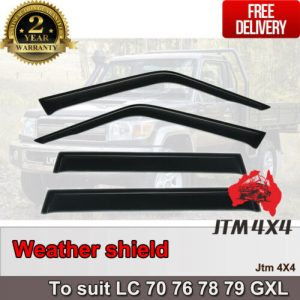 Weather shields to suit Toyota Landcruiser 70 76 78 79 GXL Series 2007-2020