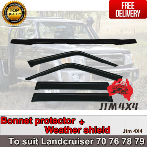 Bonnet Protector Weather Shield to suit Toyota Landcruiser 70 76 78 79 GXL 2017+