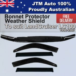 Bonnet Protector + Weathershield to suit Toyota Landcruiser 100 Series 1998-2007