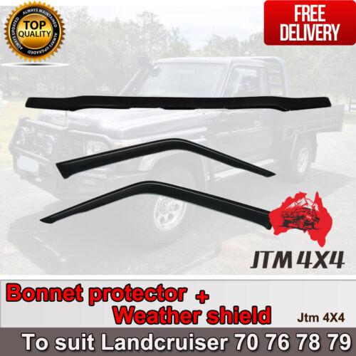 Bonnet Protector + Weather Shield to suit Landcruiser 2 door 70 76 78 79 2017+