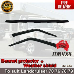 Bonnet Protector + Weather Shield to suit Landcruiser 2 door 70 76 78 79 2007-16
