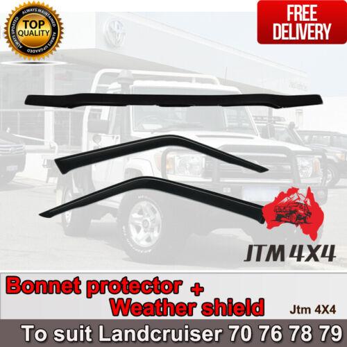 Bonnet Protector + Weather Shield to suit Landcruiser 2 door 70 76 78 79 2007-16