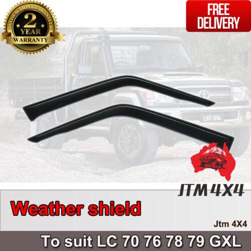 Weather shields to suit Toyota Landcruiser 2 Door 70 76 78 79 GXL Series 2007-20