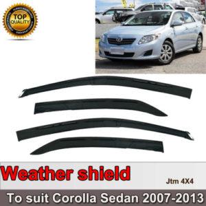 Quality Weather shield Window Visors weathershields to suit Toyota Corolla 07-13