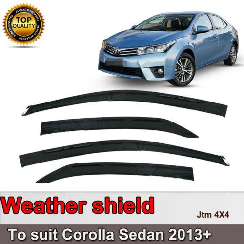 Quality Weather shield Window Visors weathershields to suit Toyota Corolla 13-18