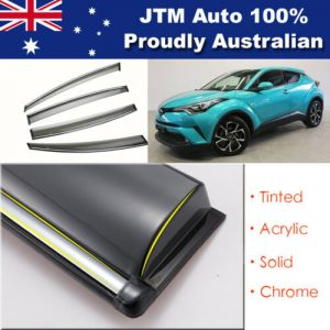Chrome Weather Shield Weathershield Window Visors to suit Toyota CHR C-HR 2017+
