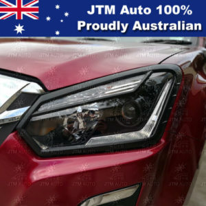 MATT Black Head Light Cover Trim to suit Isuzu D-max DMAX 2016-2019