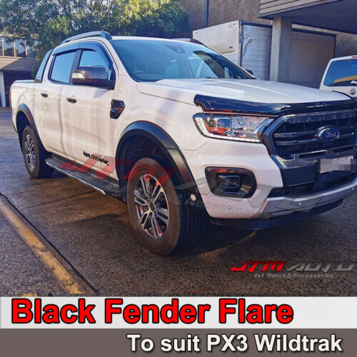 Slim Fender Flares Black Guard Trim Fits To Ford Ranger PX3 2018-2020