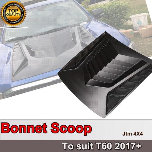 Big Matte Black Bonnet Scoop Hood to suit LDV T60 2017-2020