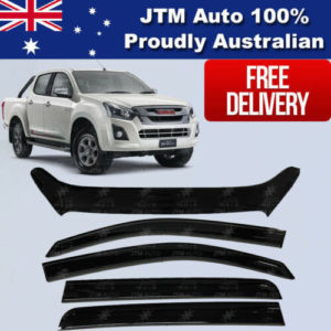 Bonnet Protector Guard + Weather Shields Visor for ISUZU D-max Dmax 2017-2020