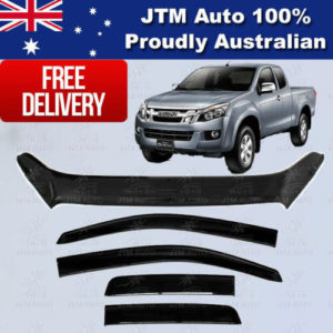 Bonnet Protector + Weather Shields For ISUZU D-Max DMAX Extra/Super Cab 12-16