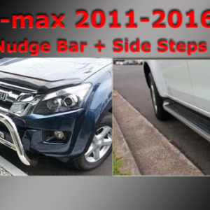 ISUZU D-max Side Steps + Nudge Bar Dual Cab 2012-2020