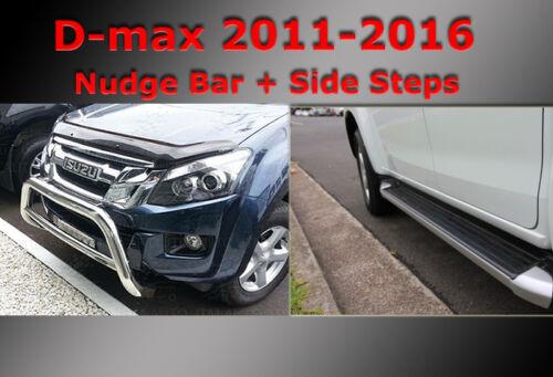 ISUZU D-max Side Steps + Nudge Bar Dual Cab 2012-2020