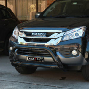 To suit Isuzu MUX MU-X Nudge Bar Black Grille Guard 2013-2020